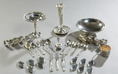 Thirty-Nine Pieces of Sterling Silver, 20th c.