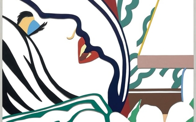 Tom Wesselmann, Bedroom Face with Green Wallpaper (Variation)