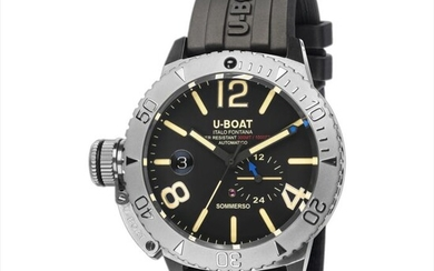 U-Boat - Sommerso Diver Watch Black Silicone Strap - 9007/A - Men - Brand New