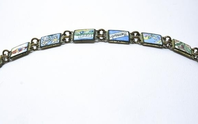 Vintage Hand Painted Enamel Child Size Bracelet