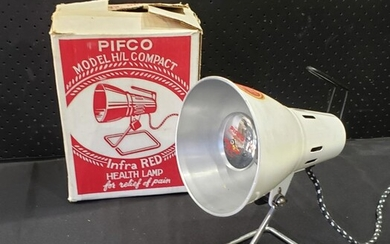 Vintage PIFCO Infrared Lamp with original box and manual (H31cm)