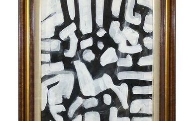 Wayne Cunningham, American, Abstract Black & White Oil