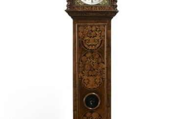 William & Mary floral marquetry tall case clock