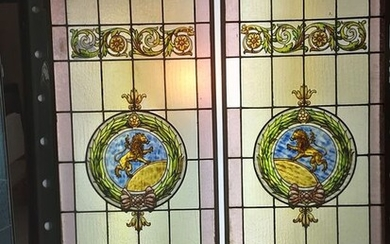 stained glass windows (2) - Stained glass - around 1900