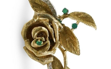 14K Gold Rose Pin