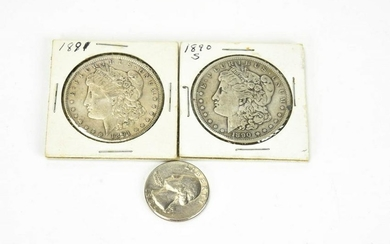 1890 & 1891 US Silver One Dollar Coins