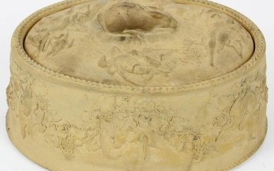 19th c. Wedgwood Caneware Game Pie Dish