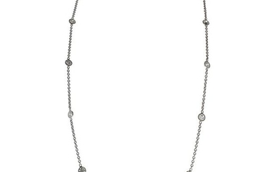 2.81 Carat Total Diamonds by the Yard Necklace in 14