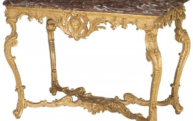 61088: A French Régence Carved Giltwood Salon Ta