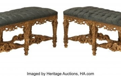 61088: A Pair of French Regence-Style Carved Gilt Wood