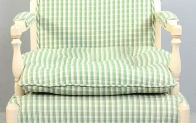 French Style Armchair, Striped Upholstery