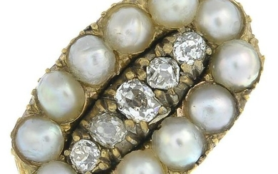 A late Victorian gold split pearl and old-cut