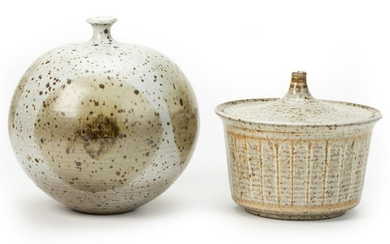 A studio pottery weed pot and Robert Maxwell covered