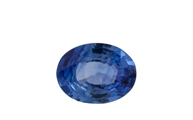 AN UNMOUNTED OVAL BLUE SAPPHIRE, together with certificate s...