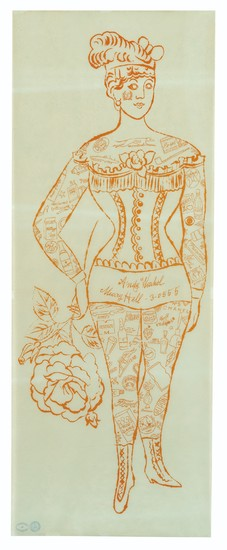 ANDY WARHOL (1928-1987), Tattooed Woman holding Rose