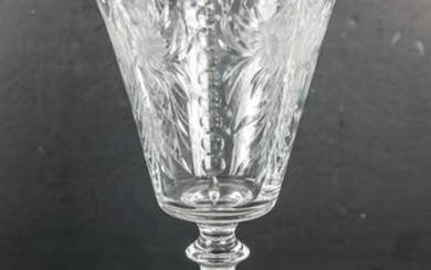 American Glass Etched Vase