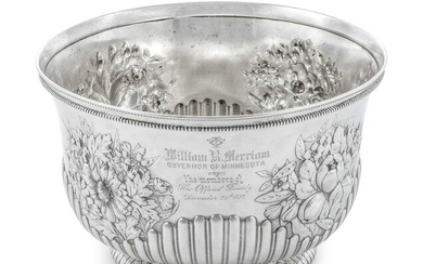 An American Silver Punch Bowl Presented to Minnesota