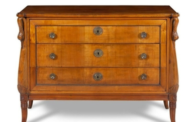 An Empire Style Walnut Commode