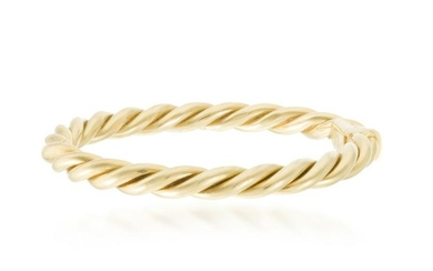 An Italian yellow gold bangle