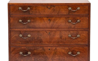 An early 19th Century mahogany and inlaid rectangular chest:...