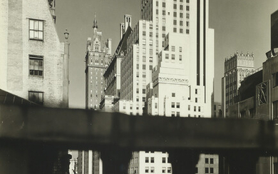 BERENICE ABBOTT (1898 1991) Squibb Building with Sherry Neth