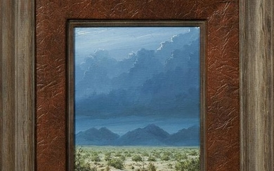 "Baker, ""Desert Landscape with Mountains Beyond,"" 1979"