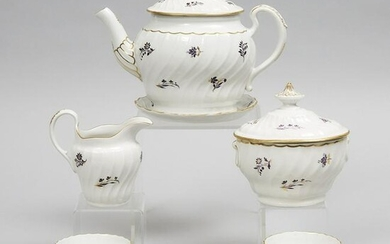Barr Worcester Fluted Tea Service, c.1800