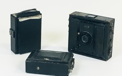 """C.P. Goerz """"Ango"""" 9 x 12 cm Camera and Two Other Cameras, the Goerz with 150mm Dagor lens, and two other cameras of similar vintage."""