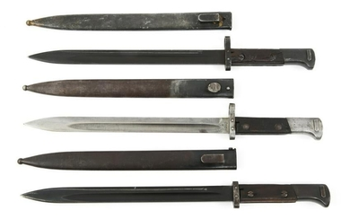 CSZ MAUSER LONG BAYONETS WITH SCABBARDS LOT OF 3