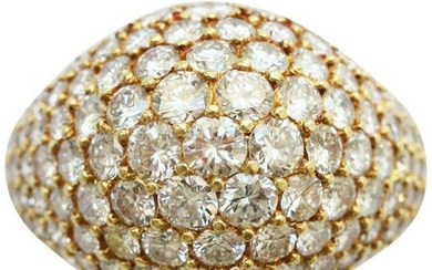 Cartier 18k Yellow Gold Brilliant Cut Bombe Style