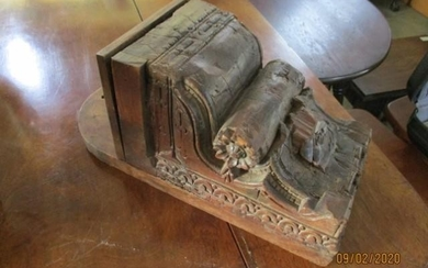 Carved Wooden Ethnic Wall Mounted Box