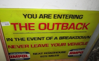 Cast iron advertising sign : Outback