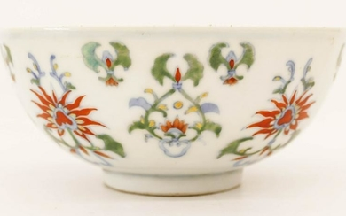 Chinese Yongzheng Doucai Porcelain Tea Bowl 2''x4.5''.