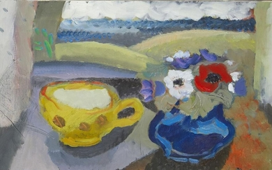 Clive Blackmore, British b.1940- Yellow Cup &...