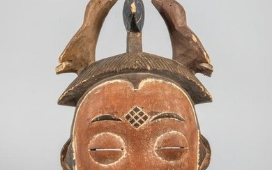 Collectible Old African Wood Wall Hanging Mask