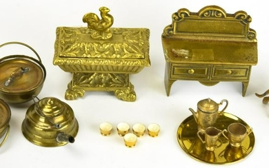 Collection of Dollhouse Miniature Brass & Copper