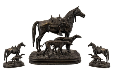 Contemporary Nice Quality Bronze Sculpture of a Riderless St...