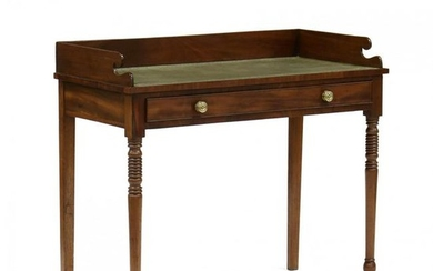 English Sheraton Mahogany Writing Table