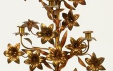 FRENCH, METAL 6 LIGHT CANDLE TREE, C. 1900