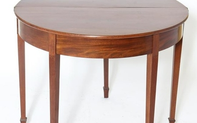 Federal Style Mahogany Flip Top Console Table