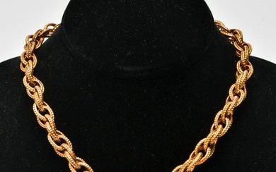 Gold-Tone Chain Linked Necklace, Vintage
