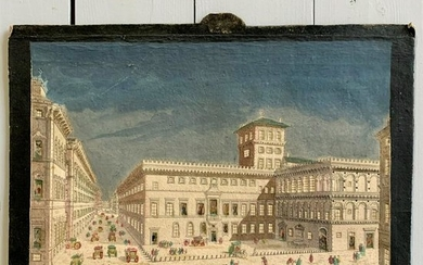 Hand Colored Print of A Roman Palace