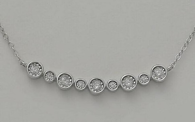 LADIES NEW 10k WHITE GOLD .25ct ROUND DIAMOND BEZEL SET