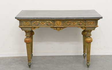 Large Louis XVI period console in carved wood...