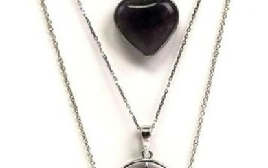 Lot of 3 : Sterling Silver Pendant Necklaces