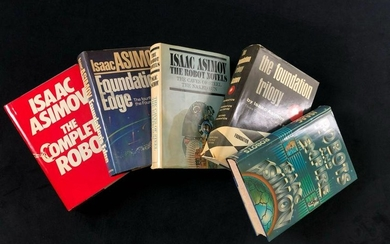 Lot of 5 Isaac Asimov Book Club Editions