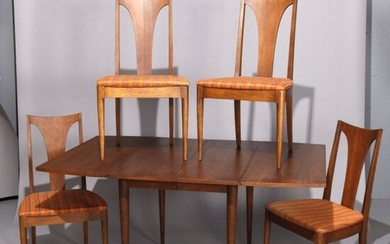 MCM Danish Walnut Dining Table & Chairs by Broyhill