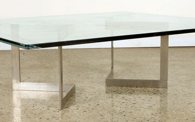 MID CENTURY MODERN POLISHED STEEL COFFEE TABLE