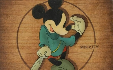 Mickey Mouse production cel from Brave Little Tailor