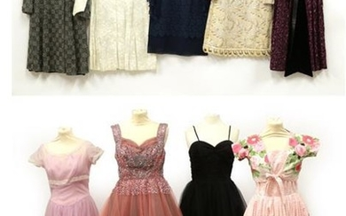 Nine Items of Circa 1950's-1960's Ladies' Day and Evening Wear,...